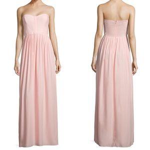 Parker • Pink Bayou Strapless Silk Maxi Dress